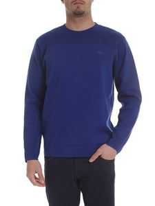 Lacoste - Blue pullover with tone on tone logo