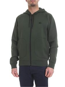 Lacoste - Green sweatshirt with rubber logo