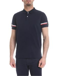 Tommy Hilfiger - Blue cotton polo with logo details
