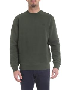 Lacoste - Green sweatshirt with tone on tone logo patch