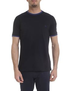 Fay - Dark blue cotton pique t-shirt with logo