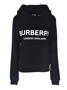 Burberry - Poulter hoodie in black with contrasting logo print