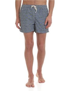 MC2 Saint Barth - Lighting swimsuit in blue with anchor print