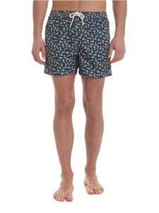 MC2 Saint Barth - Lighting swimsuit in blue with pineapple pattern