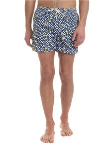 MC2 Saint Barth - Lighting swimsuit in blue with Duck print