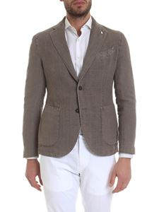 L.B.M. 1911 - Brown jacket with checked pattern