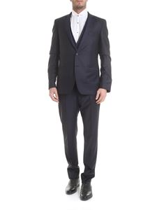 Karl Lagerfeld - Dark blue virgin wool suit