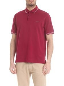 Z Zegna - Polo in wine-colored with white edges