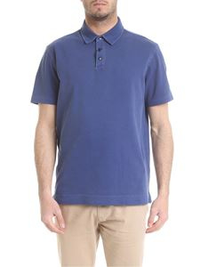 Z Zegna - Faded polo in light blue