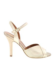 Paris Texas - Platinum sandals in textured leather