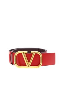 Valentino - Go Logo belt in red