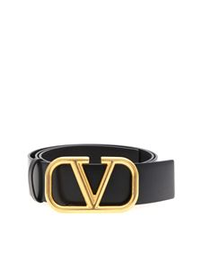 Valentino - Go Logo belt in black