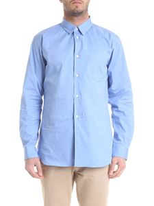 Comme Des Garçons Shirt Boys - Light blue shirt with patch pocket