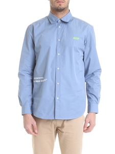 MSGM - Shirt in light blue with MSGM embroidery