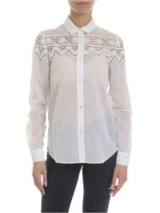 Blumarine - White shirt with lace inserts
