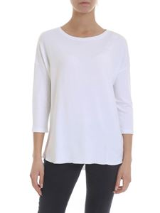 Majestic Filatures - Oversize top in white viscose