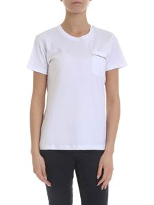 Eleventy - White T-shirt with chest pocket