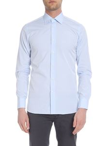 Borriello Napoli - Light blue shirt with classic collar