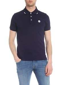 Jacob Cohën - Blue polo with contrasting logo embroidery