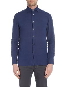 Borriello Napoli - Blue shirt with classic collar