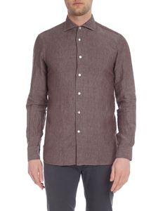 Borriello Napoli - Brown shirt with classic collar
