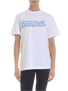 Golden Goose Deluxe Brand - White T-shirt with light blue GGDB print