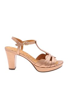 Chie Mihara - Edet sandals in laminated pink