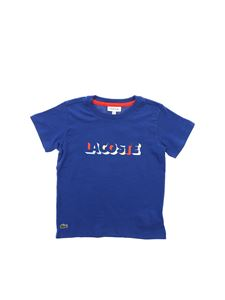 Lacoste - Printed T-shirt in electric blue