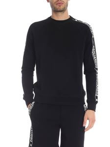 Dsquared2 - Black sweatshirt with branded bands