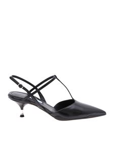 Prada - Pointy mules in genuine black leather