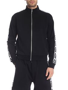 McQ Alexander Mcqueen - Black sweatshirt with branded side bands