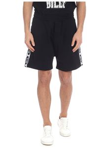 McQ Alexander Mcqueen - Black bermuda with branded side bands