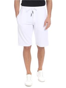 McQ Alexander Mcqueen - White bermuda with black logo embroidery