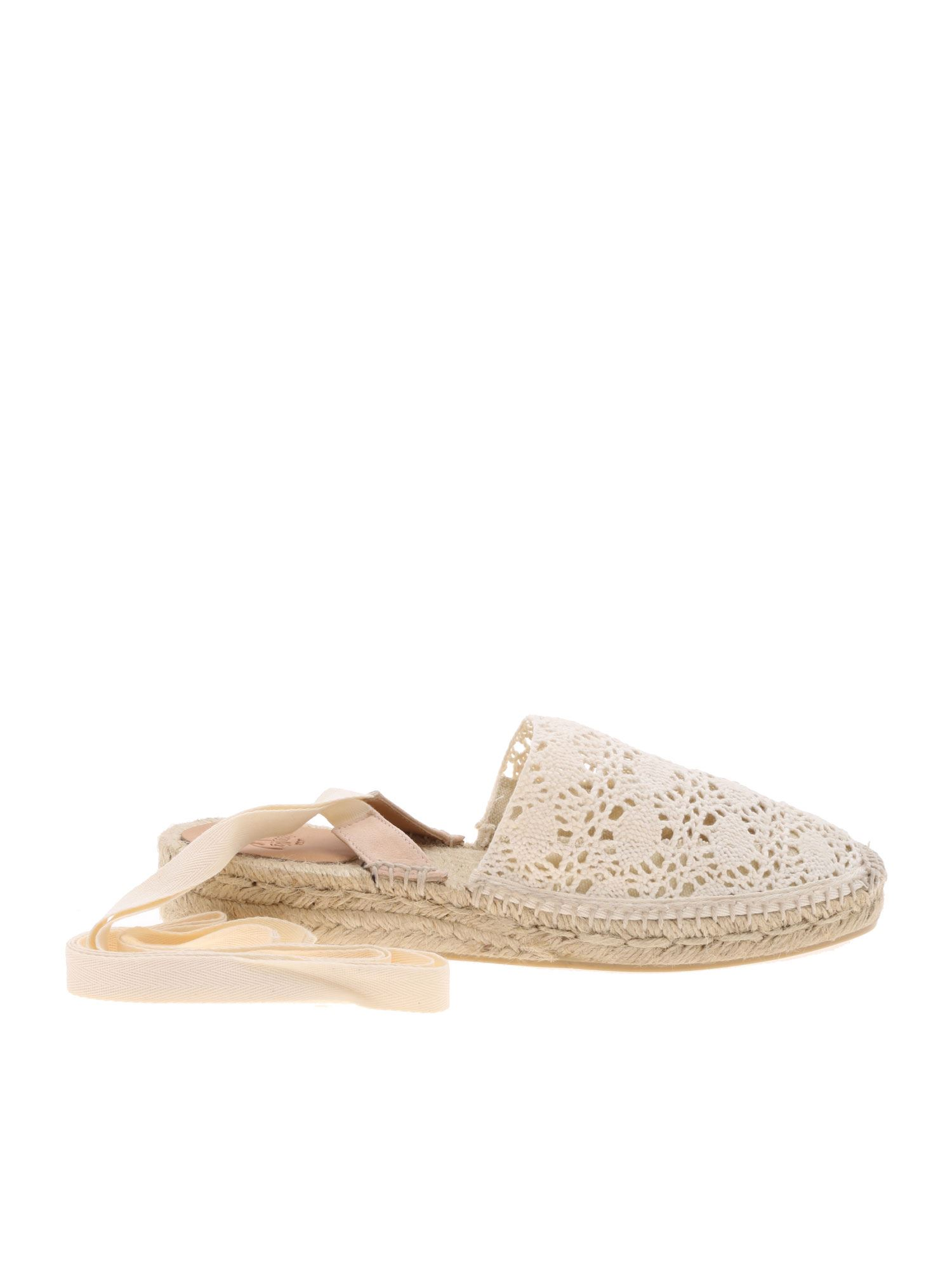 Castaã±er Low heels GABE ESPADRILLES IN LACE IN IVORY COLOR