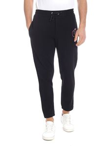 McQ Alexander Mcqueen - Black pants with logo patch