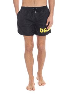 Dsquared2 - Black swimsuit with yellow logo