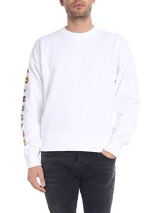 Dsquared2 - White sweatshirt with multi pattern patch