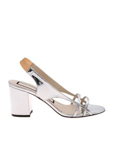 N° 21 - Slingback in silver color with heel