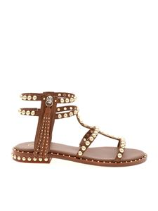 Ash - Power studded sandals in brown