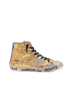 Golden Goose Deluxe Brand - Sneakers Francy con paillettes dorate