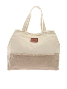 Castaner - Fabric shoulder bag in ivory color