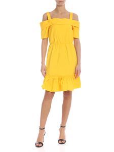 Liujo - Yellow midi dress with ruffles