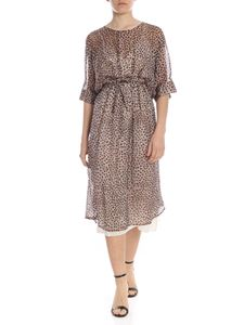 L'Autre Chose - Animal printed long dress in brown
