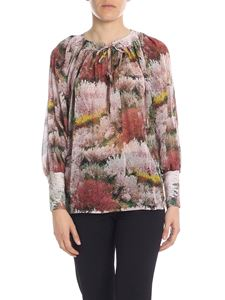 L'Autre Chose - Blouse in pink silk with floral pattern