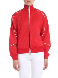 Iceberg - Red sweatshirt with removable sleeves