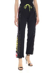 Iceberg - Black trousers with multicolor sequins