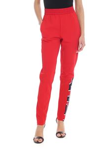 Iceberg - Technical fabric trousers in red