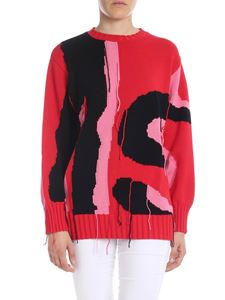 MSGM - Red pullover with pink and black detail