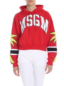 MSGM - Red sweatshirt with MSGM College print