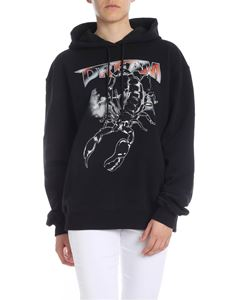 MSGM - Sweatshirt in black with Dream print